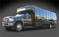 Luxury 22 passenger limousine bus Vancouver International Aiport to Whistler